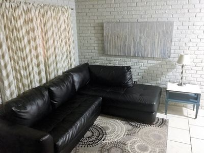Nice big sectional sofa to relax.