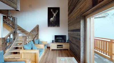 Photo for Brand new First class 4-bedroom apartment superior 4*, for 12 to 14 people, ski-in and ski-out. Big