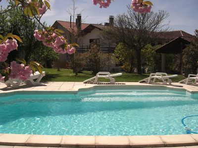 Photo for Large villa with pool for group or family holidays in the Pyrenees