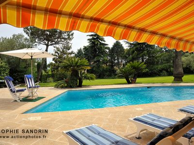 Villa of 200m² 6/8 per, air-conditioned, swimming pool, park, room with bath / shower WC