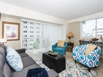 Photo for Amazing Ocean & Mauka Views from this Comfortable End Unit Waikiki Condo