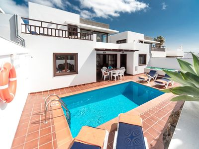 Photo for Villa Julianne 3: Heated Private Pool, Walk to Beach, A/C, WiFi, Car Not Required