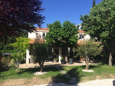 Photo for Large & beautiful villa on large landscaped fenced garden, large secure pool.