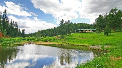 Photo for 10-acre mountain estate, private, trout stream, hiking, 6 minutes from town