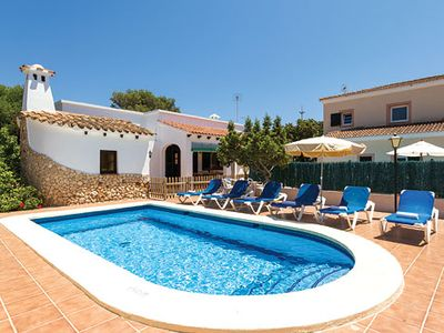 Photo for Typically Menorcan villa w/ resort centre location, private pool and gardens