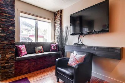 Large screen TV great views of Main Street - Park City Lodging-Galleria 308