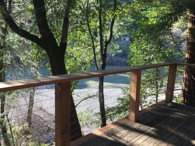 Photo for Updated cabin, right on Russian River, amazing views & location!