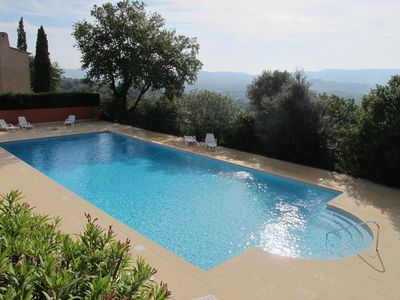 Photo for Provencal Family Villa, South Terrace, Pool & Stunning Views, near St Tropez