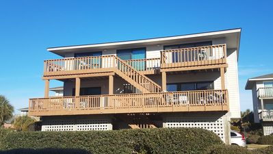 Photo for Ocean View with easy walk to beach and boat dock access to Sound