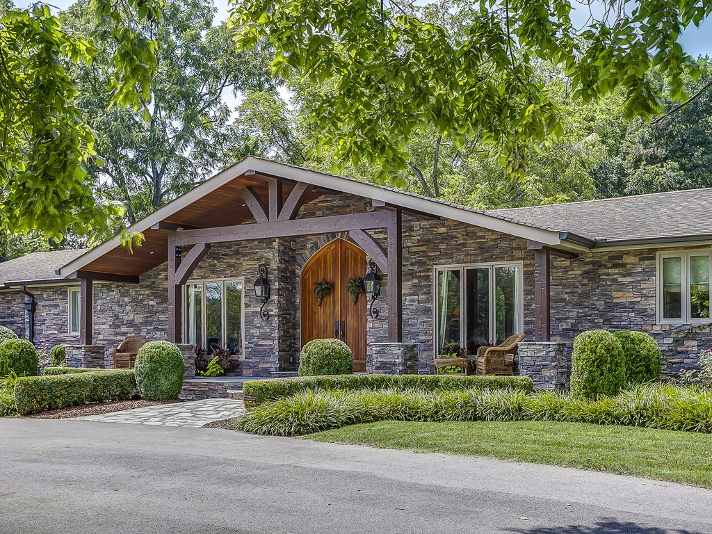 exceptional toscana house #3: Front entrance with 10u0027 doors, gas lanterns, wood timbers and covered porch