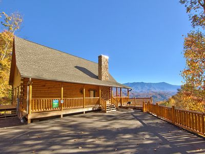 Photo for Gatlinburg Private pool cabin with spectacular views  SPLASH MANSION 500