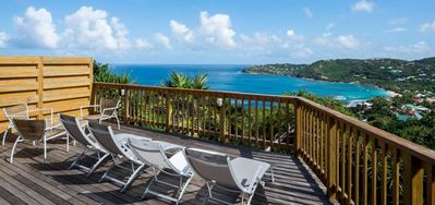 Villa Idalia  -  Ocean View - Located in  Beautiful Saint Jean with House Cleaning Included