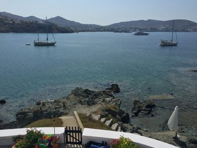 Photo for Private Bay-Captain's Villa on the Aegean seafront