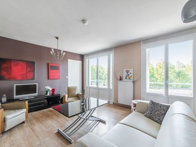 Photo for Artistic flat with balcony and parking at the doors of Lyon - Welkeys
