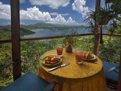 Most Romantic of St John Cottage Rentals for Couples nestled into the trees