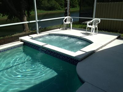 Photo for Private Heated Pool Home / 4 Bed 2 Bath / Disney 15 Minutes Away / Free WiFi /