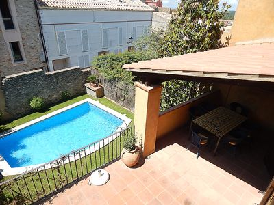 Photo for House in the center of the village with private parking, garden and pool, HUTG-22997