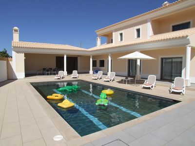 Photo for 5 Star Luxury Villa With Heated Pool Incl, Air Con, Sat TV & WIFI.Beach Nearby