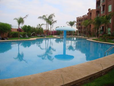 Photo for Apartment any comfort, air conditioning, swimming pool, garden