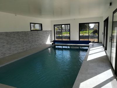 Photo for Villa with indoor pool in Lantic near Binic