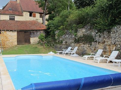 Photo for Cottage on the Salviac hillsides with a private pool