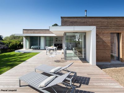 Photo for Morgat Beaches - Architect house of wood and glass walled garden