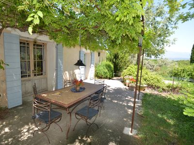 Photo for Quiet area with superb views of the Mont Ventoux