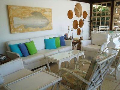 Photo for Excellent beach house with swimming pool, barbecue, pizza oven and sauna.