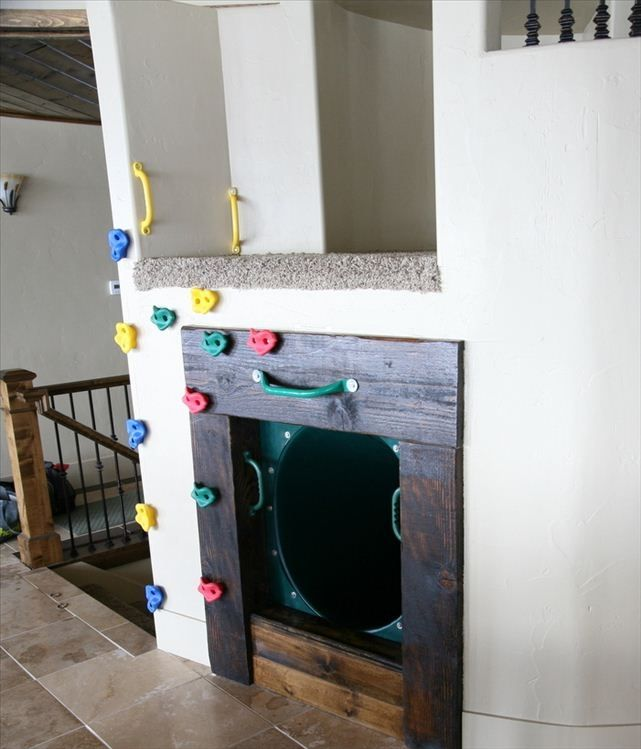 Indoor Slide Part - 43: Garden City Cabin Rental - Indoor Slide And Mini Climbing Wall, One Of Many  Play