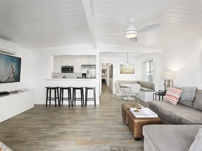 Photo for BEACH BLISS - STEPS TO THE SAND - A/C, BIKES and PARKING, TOTAL REMODEL
