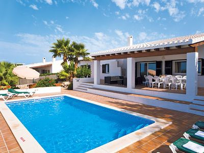 Photo for Spacious  Villa w/pool, BBQ & free Wi-Fi, a short drive from amenities & the beach