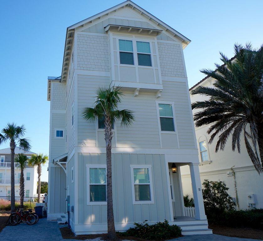 Panhandle Beach House Rentals: Beautiful 30A Vacation Home In Inlet Beach With Gulf Views