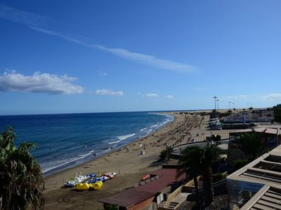 Photo for NICE BEACHFRONT SEAVIEW APT - PLAYA D INGLES - DIRECT BEACH ACCESS - FREE WIFI