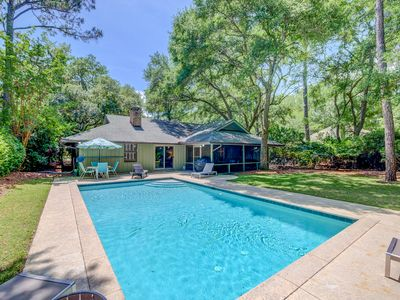 Photo for Beautiful home in Sea Pines with private pool bikes and tennis! Walk to Beach