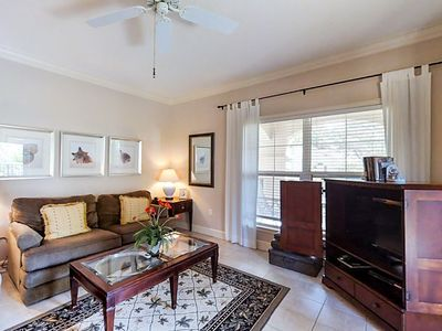 Photo for Bright & spacious condo w/ balcony view & shared pool!