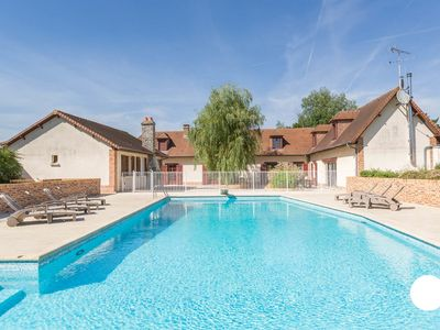 Photo for Villa des Eaux vents, charming house with swimming pool for 14 people