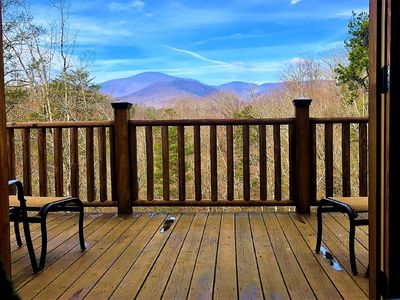 The stunning view from the deck