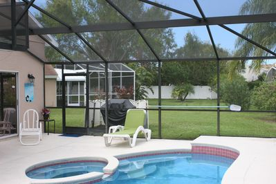 Salt water Heated Pool, spa and gas BBQ