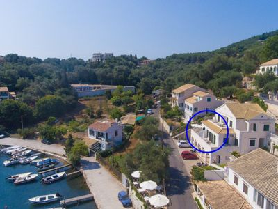 Photo for Theophilos 1: Walk to Beach, Sea Views, A/C, WiFi, Car Not Required