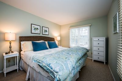 Master Bedroom -- Very comfortable with king-size bed.