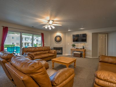 Photo for SPACIOUS GROUND FLOOR FAMILY UNIT. All RESORT ACCESS ! WALK TO 6 POOLS & RELAX !