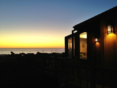 Sunset at Peri's Beach House