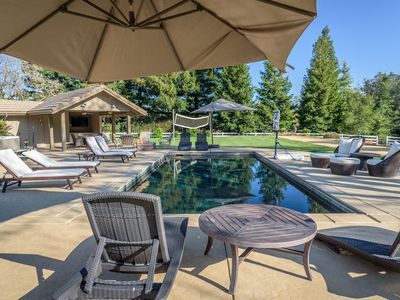 Photo for Wine Country Retreat -- Luxury Pool, Spa, Volleyball, Bocce, & More