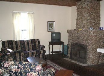 unique stone fireplace