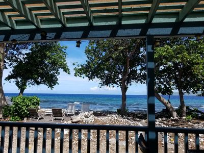 Photo for Charming oceanfront 2 BR lanai with a spectacular view