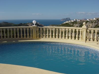 Photo for Stunning Frontline Detached Villa, Private 9X4 Pool, Amazing Sea Views, Gardens