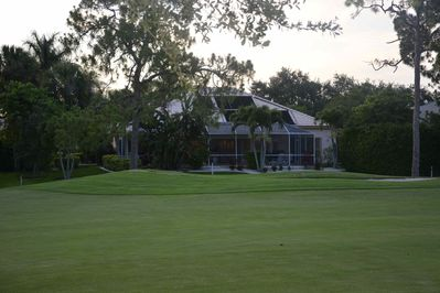 Rear of House on the 6th Fairway of Royal Palm Golf Course