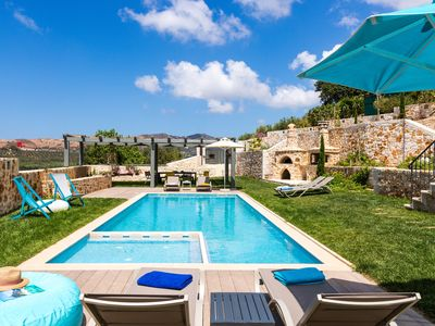 Photo for Unique, sumptuous villa complex nearby Rethymno with stunning countryside views!
