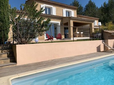 Photo for Beautiful villa with swimming pool, country view - 8 pers