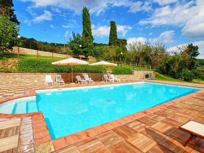Photo for Beautiful private villa with WIFI, hot tub, private pool, TV, terrace, panoramic view and parking